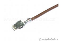 Opravárenský kabel s kontaktem SPT 4.8, hnědý