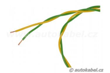 Kroucený autovodičFLRYSL 2x0,50 mm²zelený/žlutý