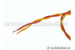 Kroucený autovodič FLRYSL 2x1,0 mm² - žlutá/rudá