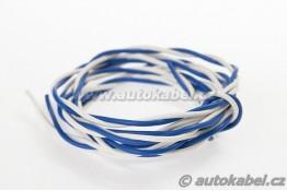 Kroucený autovodičFLRYSL 2x0,75 mm²modrý/bílý
