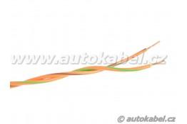 Kroucený autovodič FLRY-B 2x0,35 mm² oranžový/hnědý+oranžový/zeleny