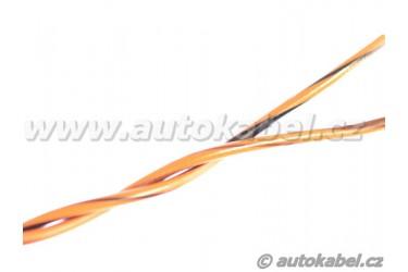 Kroucený autovodič FLRY-B 2x0,35 mm² oranžový/hnědý+oranžový/černý