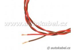 Kroucený autovodičFLRYSL 2x0,50 mm²rudý/hnědý