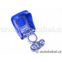 Rychloupínací svorka autobaterie EASYCLICK, minus, modrá.