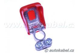 Rychloupínací svorka autobaterie EASYCLICK, plus, červená.