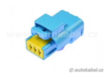 Těleso konektoru Delphi Sicma, 3pin, modré