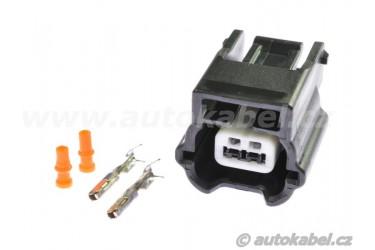 Konektor YAZAKI 2pin, pro cívku kompresoru, sada.