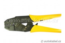 Krimpovací kleště na neizolované kontakty 0.5 - 6 mm², žluté, s vyměnitelnými čelistmi.