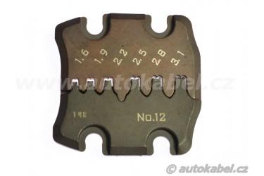 Lisovací čelisti pro kleště PAD-12 / 0.08 - 2.5 mm²