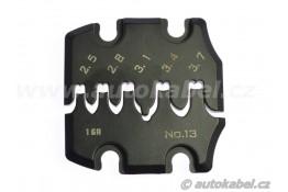 Lisovací čelisti pro kleště PAD-13 / 0.52 - 6.0 mm²