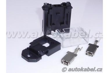 Držák Maxipojistky, sada s kontakty pro vodič do 4 mm²