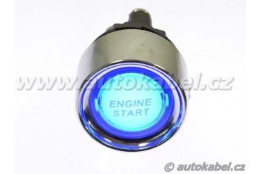 Tlačítko ENGINE START s podsvětlením, modré