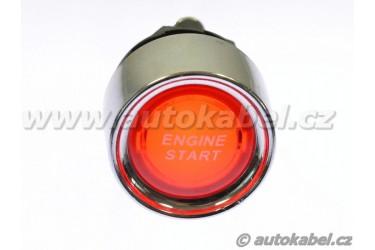 Tlačítko ENGINE START s podsvětlením, červené